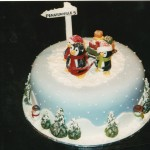 Novelty Penguin Christmas Cake