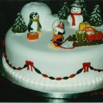 Novelty Penguin And Igloo Christmas Cake