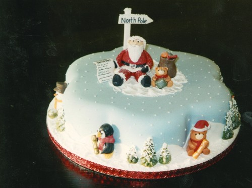 Novelty Santa Christmas Cake