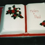 Open Book Wedding Cake