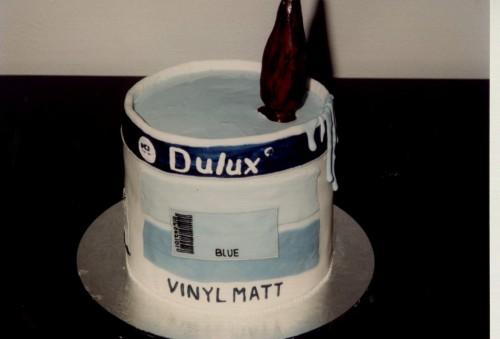 Decorators Pot of Paint Birthday Cake
