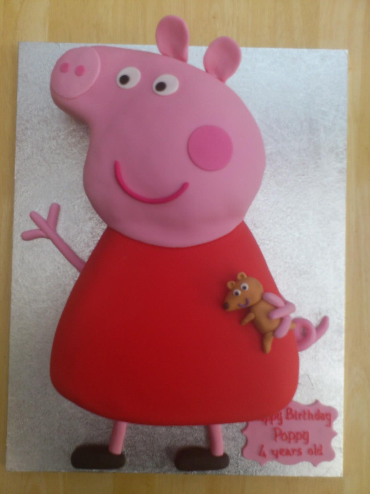 Детский торт своими руками. Торт со свинкой Пеппой