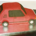 Peugeot 205 Novelty Birthday Cake