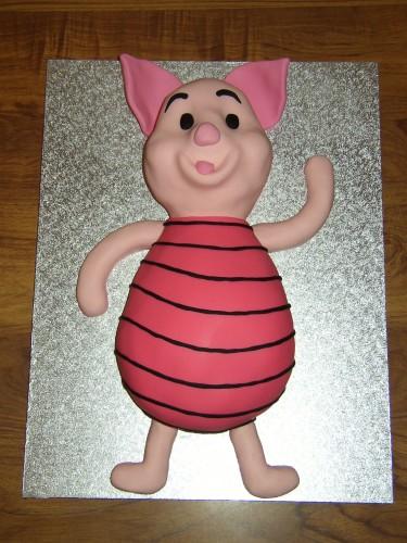 Piglet Friend of Winnie The Pooh Inspired Birthday cake