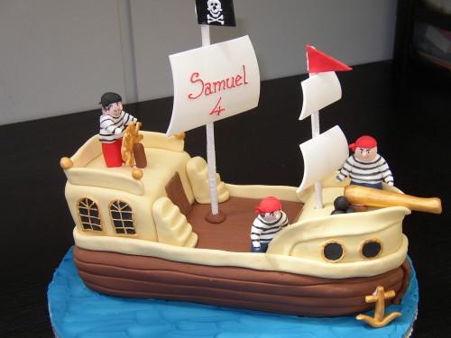 Pirates Ship Birthday Cake