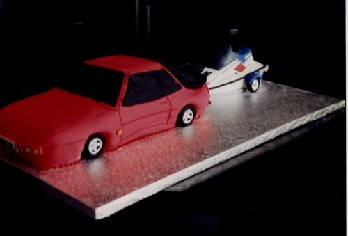 Porsche Jet Ski Novelty Birthday Cake Spone Poole Dorset