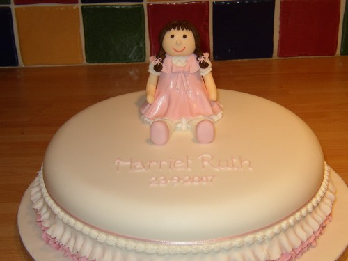 Rag Doll Novelty Christening Cake