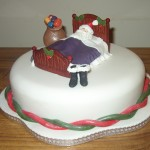 Sleepimg Santa Novelty christmas Cake