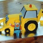 Bob The Builder With Scoop The Digger Birthday Cake
