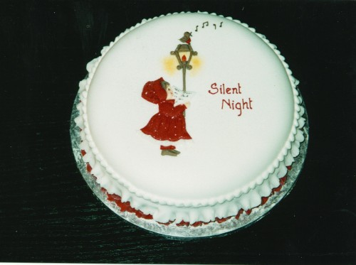 Silent Night Christmas Cake