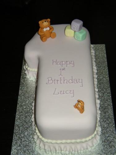 Simple 1st Birthday Cake