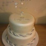 Sparkiling 2 Tier Engagement Cake