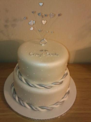 Sparkiling 2 Tier Engagement Cake