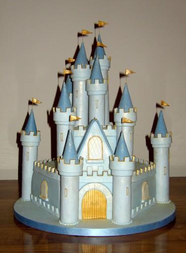 Sparkling Fairytale 2 tier Castle Birthday Cake