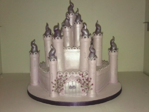 Sparkling Fairytale Castle Birthday Cake