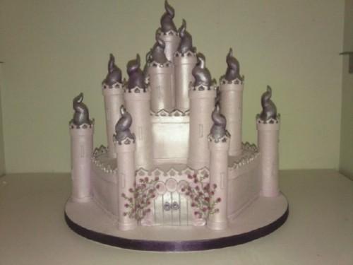 Sparkling Fairytale Castle Birthday Cake