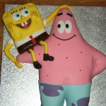 Sponge Bob Square Pants With Patrick Novelty Birthday Cake