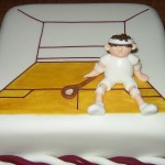 Squash Court And Player Novelty Birthday Cake