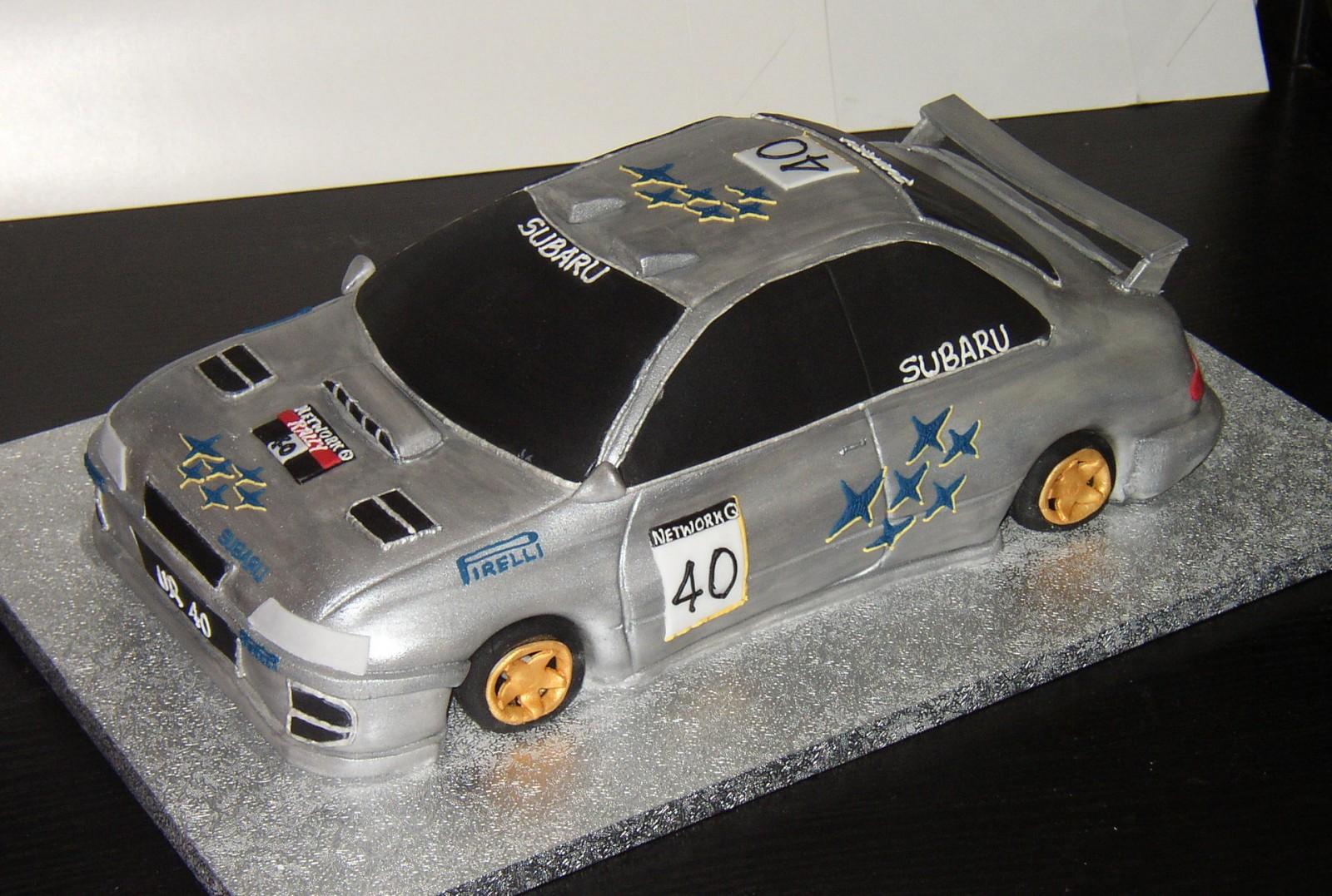 Subaru Rally Car Cake Susies Cakes