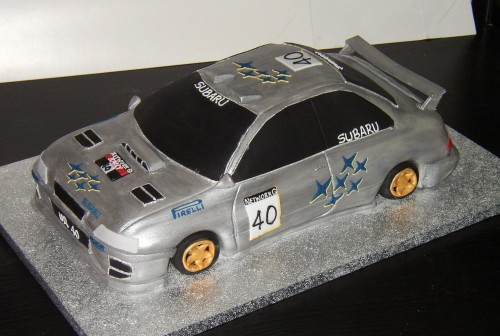 Subaru Rally Car Cake