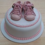 Sugarpaste Infant Bootees Cake