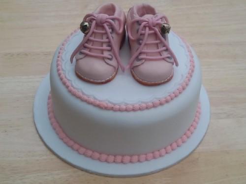 Sugarpaste Infant Bootees Cake