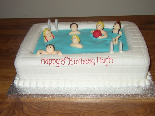 Swimming Poole Party Birthday Cake