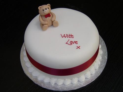Simple Teddy Bear Any Occaasion Cake
