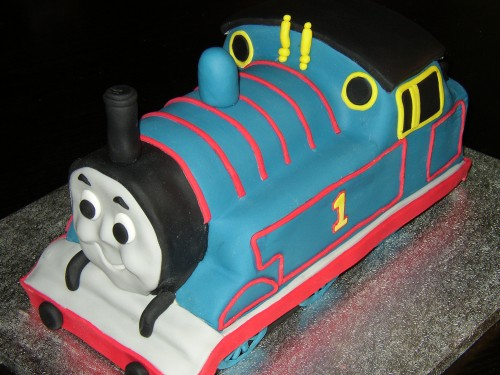 Thomas The Tank Engine Inspired Birthday Cake