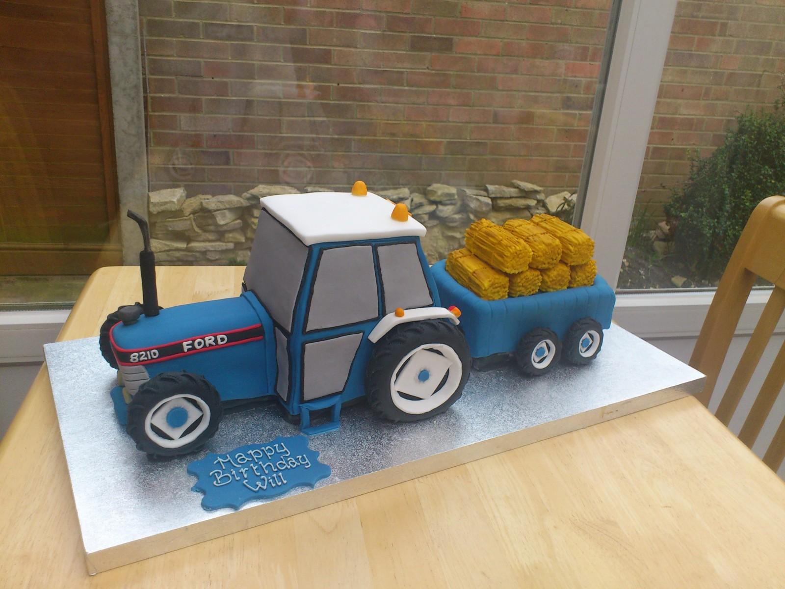 Ford Tractor And Trailer Birthday Cake