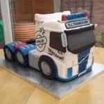 Volvo Tractor Unit Novelty Birthday Cake