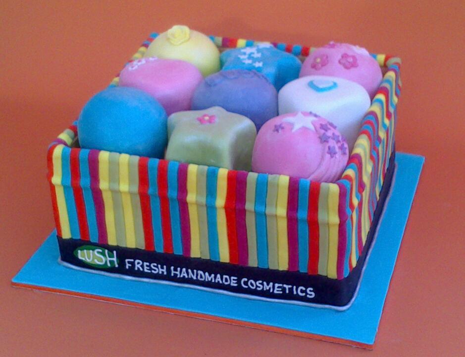 Lush Bath Bomb Inspired Novelty Birthday Cake
