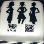 1960's Retro Black And White Party Cake