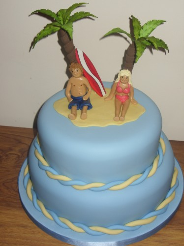 2 Tier Caribbean Novelty Wedding Cake