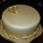 Sparkling 50th Wedding Anniversary Cake