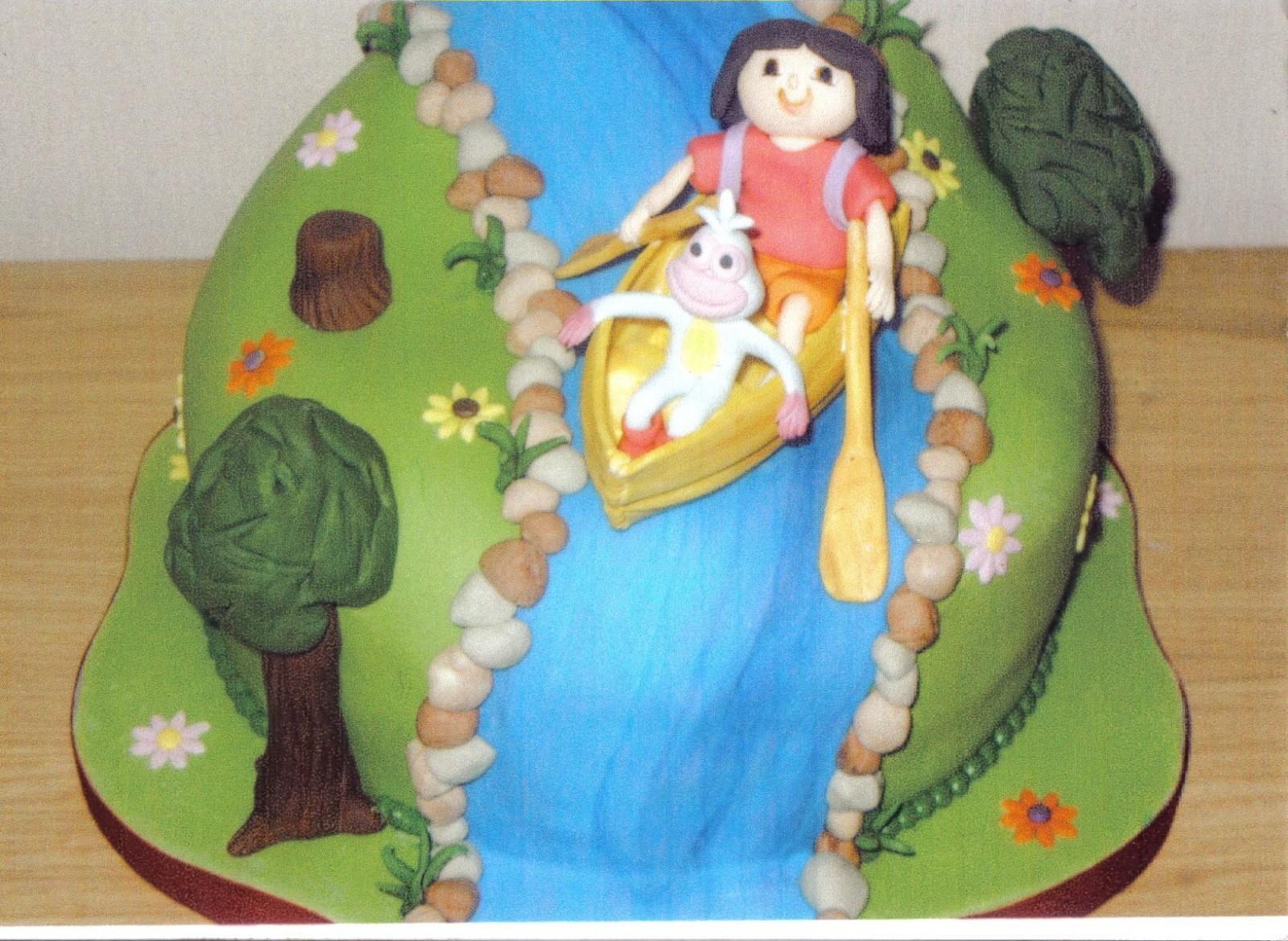 Sensational Dora The Explorer Novelty Birthday Cake Susies Cakes Personalised Birthday Cards Veneteletsinfo
