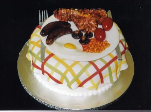 Fry Up Breakfast Novelty Birthday Cake