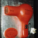 Hairdressers Hair Dryer Novelty Birthday Cake