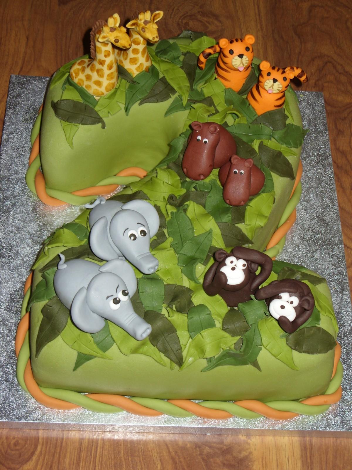 Pin Fondant Cupcake Cookie Toppers Edible Safari Zoo