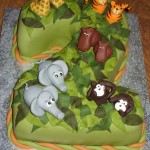 Jungle Animals Numeric Cake