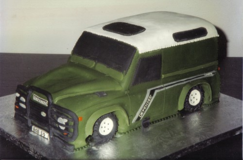 Landrover Defender Novelty Birthday Cake