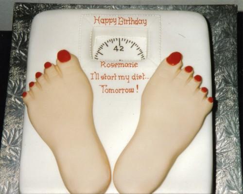 Novelty Diet Scales Birthday Cake