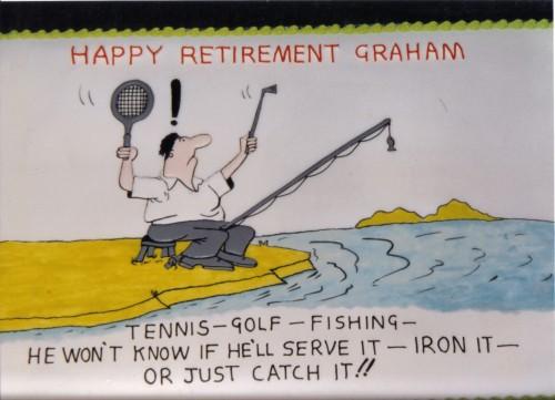 Novelty Sporting Themed Retirement Cake