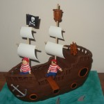 Pirates Walking the Plank Cake