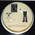 Wallace And Gromit Cricket Inspired Novelty Birthday Cake
