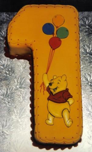 Winnie The Pooh Inspired Novelty 1st Birthday Cake