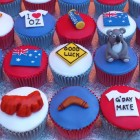 australian themed cup cakes