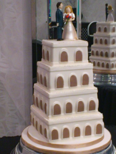 4 Tier Stacked Wedding Cake Tower Themed