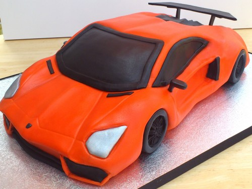 Lamborghini Aventador Novelty Birthday Cake