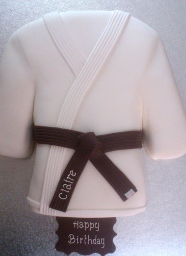 Brown Belt Karate/judo Novelty Cake